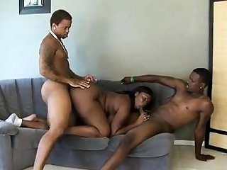 Wild threesome and fucking doggystyle with Brazil and Parker