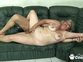 BBW blondie grandma gets stabbed by creature meat rod