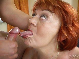 LustyGrandmas - Marsha - Pleasure On Delivery - blowing cock