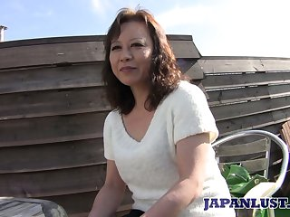 Of age Japanese little one Akemi Seo rides dick and gets her sopping slit stretched well