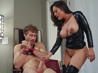 Medial Asian milf sits on the cock and rides it hard