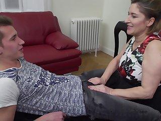 Mature blonde bungling Teresa Lynn takes a hard big dick in her holes