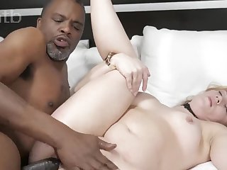 Thrilling interracial porn motion picture