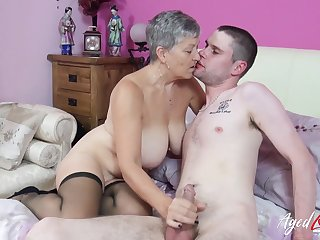 Old plus young mature hardcore action with busty lady Savana
