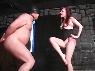 Extreme Femdom Dominatrix Bizarre Cock Coupled with Codswallop Busting