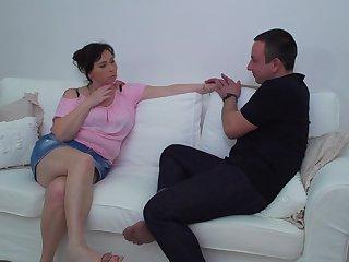 Buxom unprofessional brunette adult MILF Rosalia gets her fat ass fucked