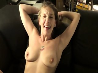 Mature amateur wife homemade anal on every side hot facial