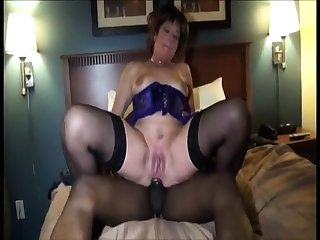 Interracial stockings cash-drawer loves to disgust a gang bang queen