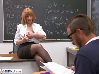 All in all shaped busty teacher Sara Jay seduces one of the students