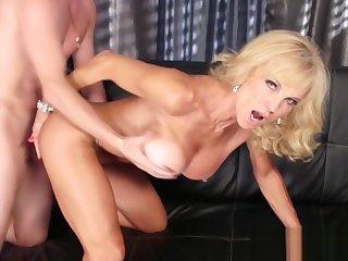 Mature Blonde Ravished Overwrought A Stud