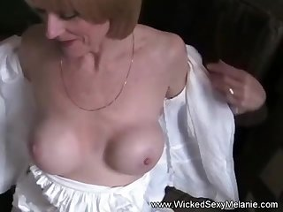 Tyro Blonde GILF Sucks Cock While On her Cell Phone