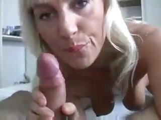 Oversexed GILF with sweet sensual broken up teases cock of youngster