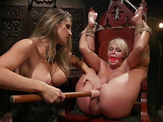 Intense lesbian femdom and guestimated toy fucking