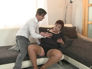 Unshaved and horny mature Gizou gets her pussy fucked by a dude