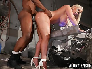 Cougar obeys powerful black stud with an increment of gets roughly fucked