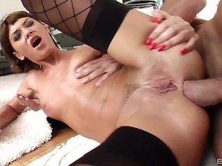 Superb anal at home with seductive Bibi Black