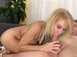 Cougar mom deals a huge dick in certain scenes of home XXX