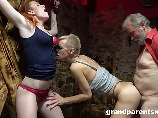 Freakish threesome take on can't disgust better for sexy blonde milf