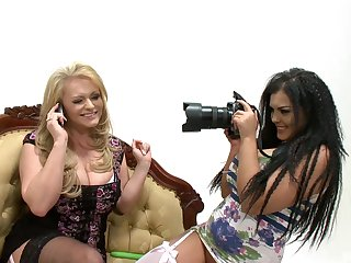 Extraordinary of a female lesbian Jasmine Black uses a dildo to please a girl