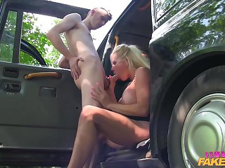 Young cab driver fucked Michelle Thorne in hardcore style