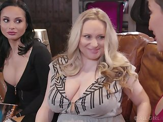 Three hot MILFs aren't retrogressive about what they want and they want faggot sexual congress