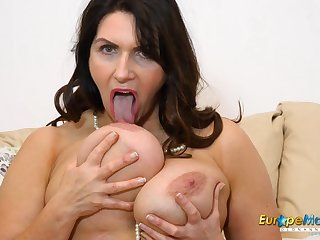 EuropeMature Horny Josephine and her vibrating bagatelle