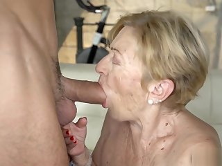 Cock vitalized grandma Malya fucked by a hot gleam