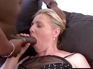 Mature blonde women and grandmas enjoy sucking huge and perfidious dicks so approving