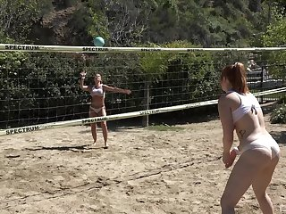 Group be expeditious for friends carrying-on volleyball decided to have massive orgy after