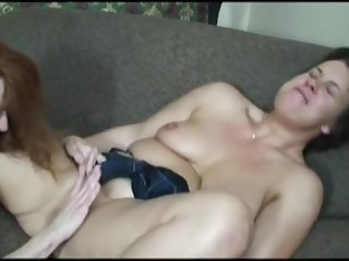 mature lesbian being skirt fucked with a tie in on by her girlfriend