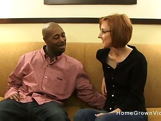 Tiny redhead matured gets fucked by a big black dick