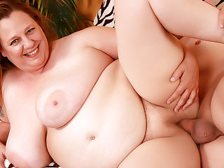 Older Plumper with Juicy Natural Pair Winter Don Juan Loves a Long Cock