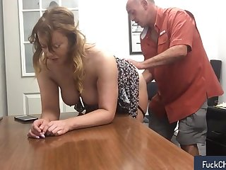 Fun with my secretary being done not far from real amateur sextape