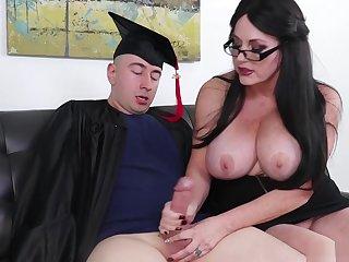 Busty Big Tit Handjob Unprofessional Tugs On Dick For Cum