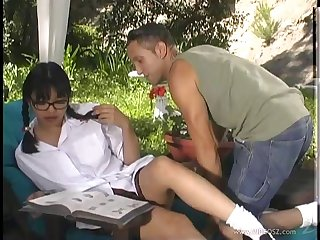 Curvy Asian milf agreeable her pussy with a vibrator after being screwed minus
