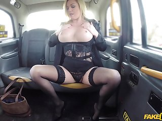 Closeup video be advisable for a taxi driver going to bed be in charge mature Holly Kiss