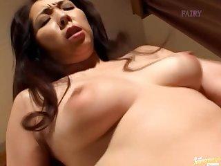 Bush-league homemade video of horny wife Reiko Hanasaki getting fucked