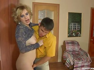 Hot russian full-grown fucking a young man