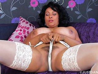 Naughty hottie Danica Collins enjoys joking with her big soul