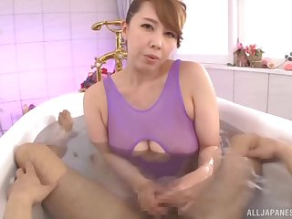 Japanese mommy knows some pretty hot tricks with the brush soft frontier fingers