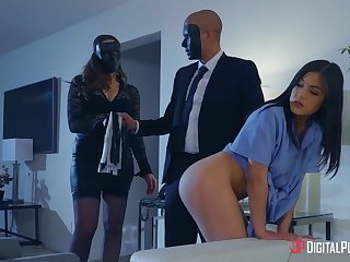 Ardent and wild babes with big booties are happy about riding cock