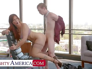 NAUGHTY AMERICA Syren De Mer gets hard cock at the office