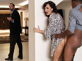 Spouse returned when housewife rails BIG Frowning COCK