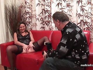 Hard anal casting embed amateur mom fisted with an increment of DP